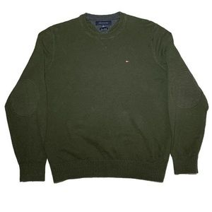 Tommy Hilfiger Olive Green Sweater Lux Cotton sz L